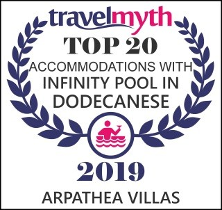 Arpathea Villas ranked as a top accommodation with Infinity pool in Greece!